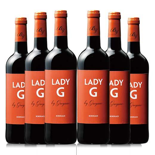 レディー・ジー・バイ・グレイサック 6本セット [赤ワイン] [ワインセット]【7783298】