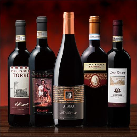 バルバレスコ入り!イタリア最高格付け赤ワイン5本セット [赤ワイン][赤:フルボディ][ワインセット] 【7791964】