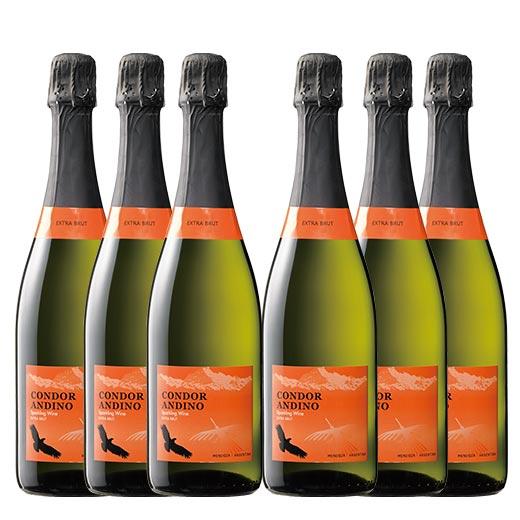 コンドール・アンディーノ・スパークリング 6本セット[スパークリングワイン][ワイン セット][白:辛口:発泡] 【7777303】