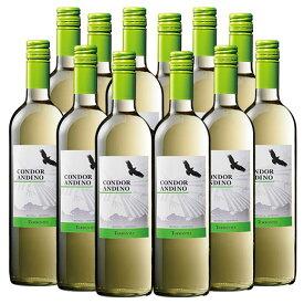 【送料無料】コンドール・アンディーノ・トロンテス12本セット(アルゼンチン 白 辛口) [白ワイン][ワインセット]  【7777383】