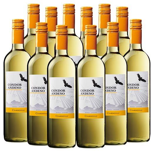 【送料無料】コンドール・アンディーノ・シャルドネ12本セット(アルゼンチン 白 辛口) [白ワイン][ワインセット]  【7777384】