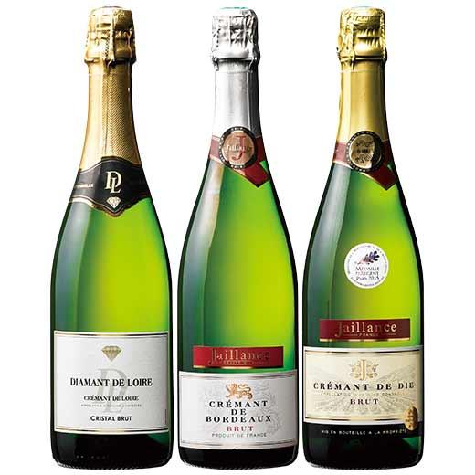 高評価生産者ジャイヤンスの受賞クレマン飲み比べ3本セット [泡 スパークリングワイン ワインセット] 【7779819】