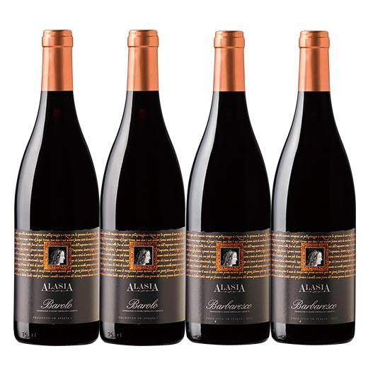 【送料無料】ピエモンテ最高格付 偉大なる赤ワイン4本セット [赤ワイン] [ワインセット] 【7781250】