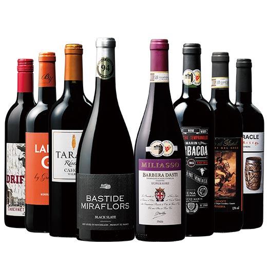 【 送料無料 】【36%OFF】すべて樽熟成!金賞&高評価入り 世界の濃厚赤フルボディ8本セット【7772244】 赤ワイン ワインセット フルボディ