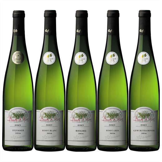 【送料無料】アルザス品種飲み比べ金賞白ワイン5本セット [白ワイン][ワインセット]  【7782001】
