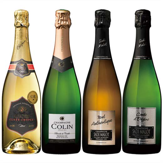 【送料無料】シャンパーニュ1級畑飲み比べ4本セット [ワインセット][スパークリングワイン]【7782013】