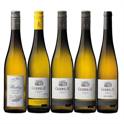 【送料無料】ドイツ・モーゼル地方リースリング飲み比べ5本セット [白ワイン] [ワインセット] 【7782024】