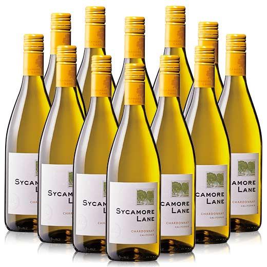 【送料無料】シカモア・レーン・シャルドネ 12本セット [白ワイン][ワインセット] 【7783212】