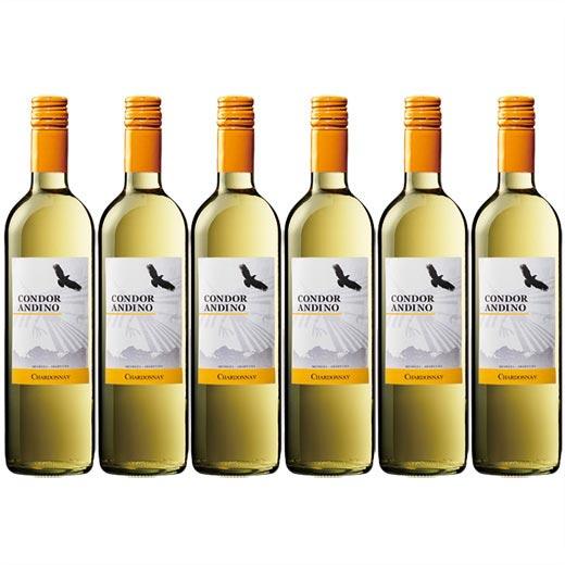 コンドール・アンディーノ・シャルドネ 1種6本セット アルゼンチン 辛口 白ワイン ワインセット  【7786654】