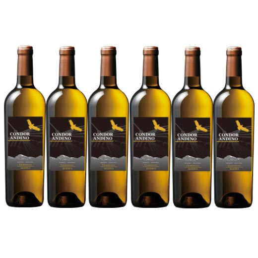 【送料無料】コンドール・アンディーノ・レセルバ・シャルドネ 1種6本セット アルゼンチン 辛口 白ワイン ワインセット  【7786656】