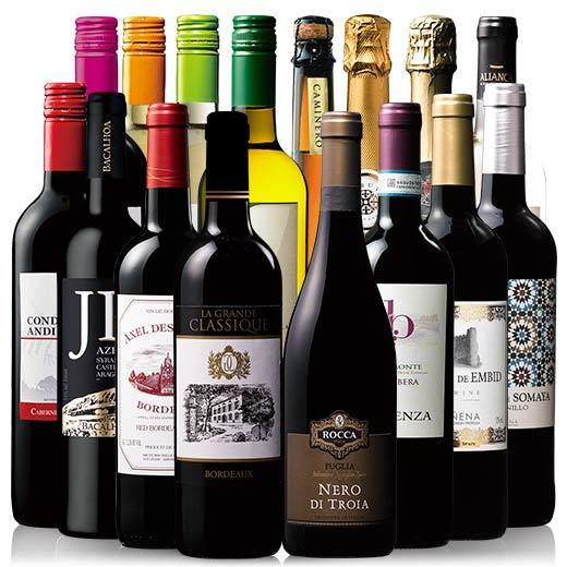 【送料無料】【43%OFF】当たり年ボルドー&金賞入り!世界の赤白スパークリング16本セット[赤ワイン][白ワイン][スパークリングワイン][ワインセット] 【7792123】