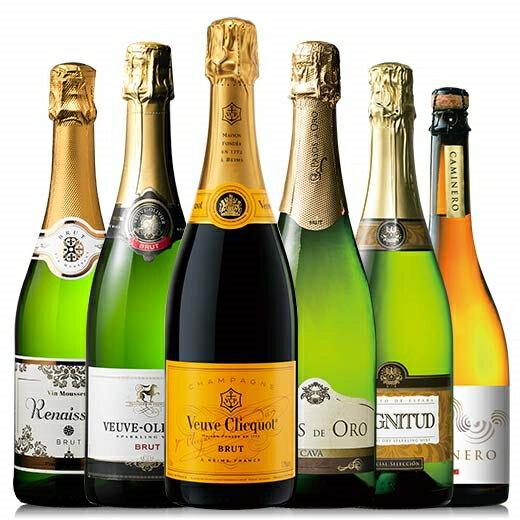 【送料無料】【13%OFF】ヴーヴ・クリコ入り!世界のスパークリング6本セット[スパークリングワイン][ワインセット] 【7792127】