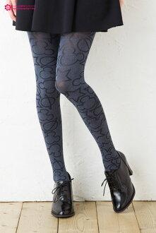 Mizmarmicky & star pattern tights Disney (Womens) ♪ (Mickey Mouse stocking fashion cute Disney tights stockings ladies)-ZB
