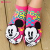 HAPPY WORD Mickey sneaker-socks (Good job) Mickey mouse ankle length ♪ short socks sock women's Disney Disney short socks ladies!-ZB