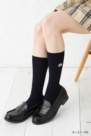CECIL McBEE スクールソックス セシルベアー ワンポイント刺繍 28cm丈 (紺・白・黒) 靴下 通学 女子高生 制服 ハイソックス セシルマクビー