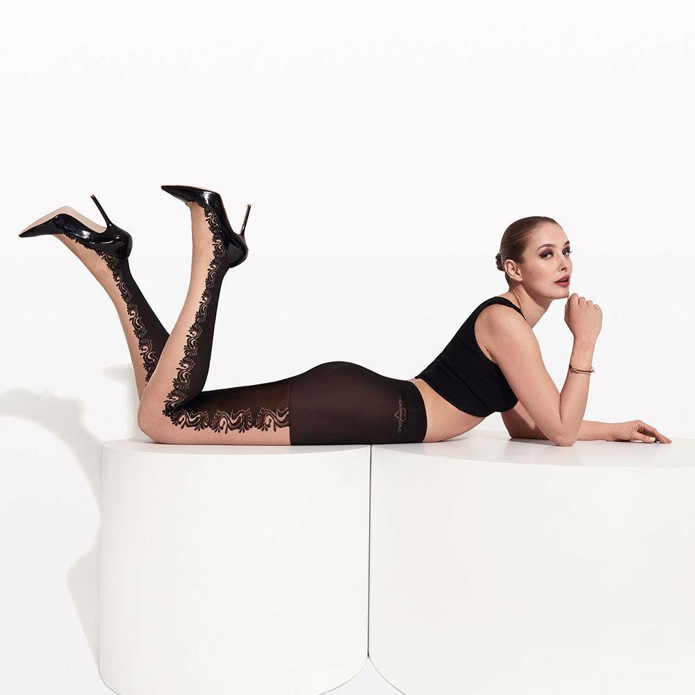 Trasparenze Fellini フェリーニ 柄ストッキング イタリア製 レディース (cosmetic var.A) シアータイツ ladies
