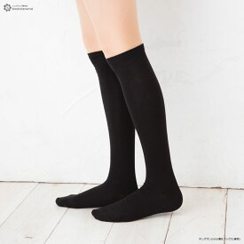 着圧ハイソックス 綿混素材 平無地 22-25cm 靴下 レディース high socks ladies