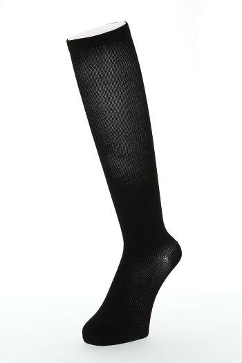 段階着圧ハイソックス(足首31hpaの強力着圧)(23-25cm)靴下レディース