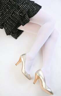 80 D color tights (white)!-ZB