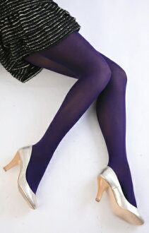 Color tights (blue-violet) ♪ thick ladies stocking tights ladies!-ZB