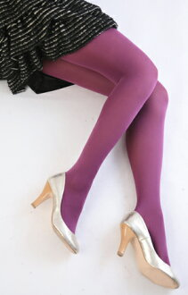 Color tights (purple) ♪ thick ladies stocking tights ladies!-ZB