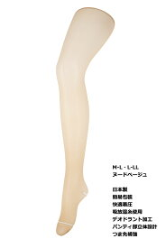 簡易包装 快適着圧 吸放湿 ストッキング 日本製 (M-L・L-LL)(ヌードベージュ)(つま先補強・ゾッキサポート) シアータイツ レディース