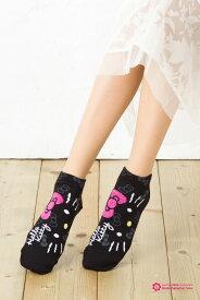 横フェイス キティ ショートソックス (日本限定販売 FOR SALE IN JAPAN ONLY)(日本製 MADE IN JAPAN) 靴下 ハローキティ サンリオ socks character hello kitty sanrio