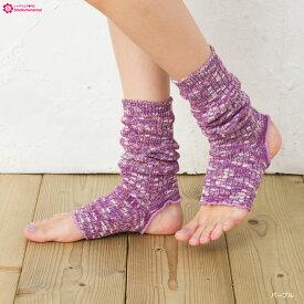 SMALL STONE カラーコットン サンダル ソックス 靴下 レディース ヨガ ダンス high socks ladies short