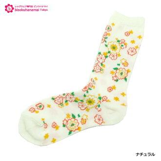 It is ♪ socks socks ladies ♪ -Z fs04gm by the flower socks (product made in Japan) ♪ 1,080 yen purchase, choice