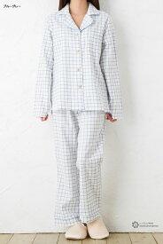 綿100% 胸ポッケ付き チェックパジャマ Mサイズ レディース ladies