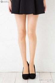 切り替えなしシアータイツ 18デニール ストッキング (日本製・M-Lサイズ・ブラック・ベージュ) スルータイプ オールスルー レディース stockings tights ladies
