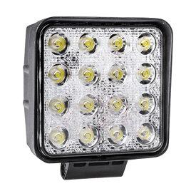 LED 投光器 ワークライト 作業灯 48W 角型 1個 スクエアタイプ 防水 防塵 12V 24V 集中 照射 3600lm 純白光 6500K 爆光 フォグランプ フォグライト 集魚灯 LEDライト _45290