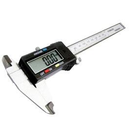 ノギス デジタル 0.01mm 〜 150.0mm mm inch切替可能 デジタルノギス 黒 大画面ディスプレイ付 外径計測 内径計測 段差計測 ミリ インチ _75107