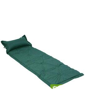 マット エアーマット 自動膨張式 インフレータブル 枕付 軽量 コンパクト グリーン シングル 寝袋マット 180×60cm 車中泊 防災 アウトドア レジャー キャンプ コンパクトなので地震や災害時の