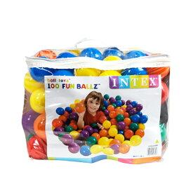 ボールプール ボール カラーボール おもちゃ 100個 収納バッグ入り INTEX社製 子供 幼児 キッズテント ボールハウス 室内 ファンボール _85161