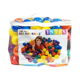 ボールプール ボール カラーボール おもちゃ 100個 55mm 収納バッグ入り INTEX社製 子供 幼児 キッズテント ボールハウス 室内 ファンボール _85270