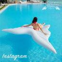 浮き輪 フロート 天使の羽 インスタ映え 大型 エアーベッド エアーマット フロートボート 大人用 子供用 | プール 海…