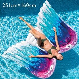 インテックス intex 浮き輪 フロート 天使の羽 取っ手 エアーベッド エアーマット フロートボート ラウンジプール インスタ映え | 大人用 子供用 エアマット フロートマット プール 海水浴 うきわ おしゃれ かわいい 可愛い 大きいサイズ