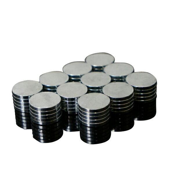 ネオジム 磁石 ネオジウム磁石 15mm 2mm 55個 セット 丸型 DIY 工作 プラモデル バイク 小型 薄型 超強力 ボタン_87153