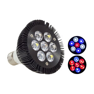 アクアリウム ライト LED 水槽 照明 21W 7LED 電球型 E26 E27 ソケット対応 95mm×95mm 熱帯魚 水草 流木 金魚 インテリア 観賞用 癒し あす楽対応 @87236