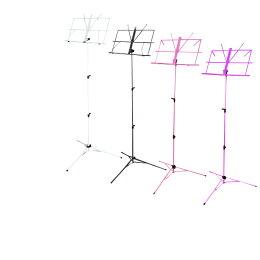 譜面台折り畳み軽量楽譜スタンド持ち運び便利折畳式ソフトケース付選べる4色/黒/紫/ピンク/白スチール製スタンド演奏会発表会オーケストラステージ/コンサート/ライブ/@a490【10P03Sep16】