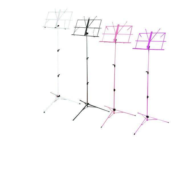 譜面台 折り畳み 軽量 楽譜スタンド 持ち運び便利 折畳式 ソフトケース付 選べる4色 黒 紫 ピンク 白 スチール製 スタンド 演奏会 発表会 オーケストラ ステージ コンサート ライブ △@a490
