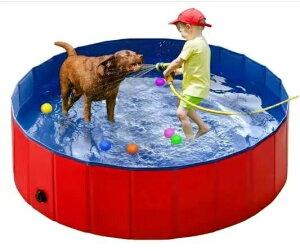 キッズ ペットプール バスタブ 折りたたみ 持ち運び便利 PVC複合素材 水抜き栓付き 屋内屋外用 子ども   猫   中小型犬に適用
