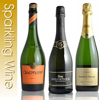 アクアヴィタ厳選シリーズ辛口本格 スパークリングワイン 3本セット ワイン セット 送料無料