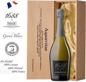 1688 グラン ブラン 白 Grand Blanc 木箱入り ノンアルコール スパークリングワイン 750ml ワイン ギフト 母の日 プレゼント ノンアルコールワイン