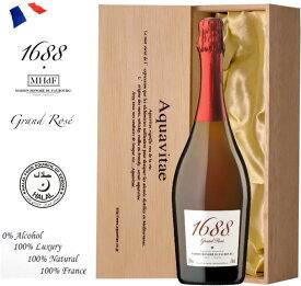 1688 グラン ロゼ Grand rose 木箱入り ノンアルコール スパークリングワイン 750ml ワイン ギフト 母の日 プレゼント ノンアルコールワインaqt