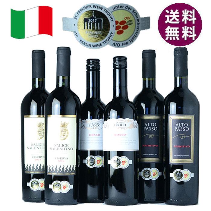 金賞受賞 イタリアワイン 赤 6本セット ボッターカルロ アクアヴィタエ厳選 ワインセット