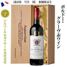 シャトー・デ・トゥレール 赤 木箱入り フランス AOC グラーヴ 750ml ワイン ギフト プレゼント 父の日 お中元 お歳暮 誕生日 20t