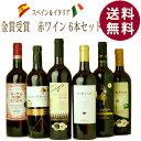 【楽天スーパーセール】金賞受賞イタリアスペイン赤ワイン6本セット ワイン セット 送料無料