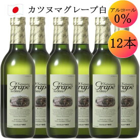 シャトー勝沼 カツヌマ グレープ ブラン 白 ワイン ノンアルコール ワイン 12本 セット 720ml c